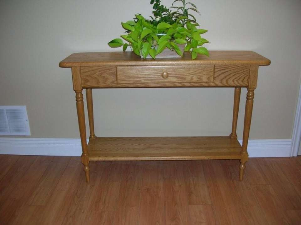 Solid Oak Hall Table