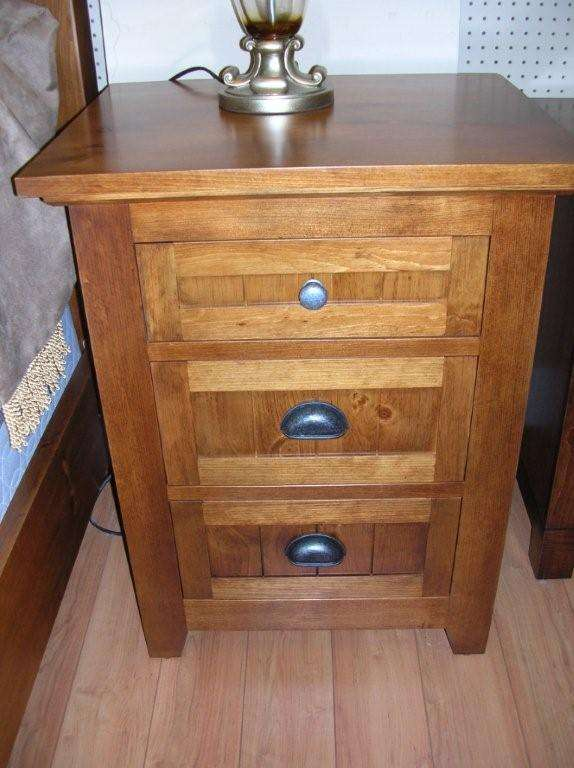 Rustic Pine 3 drawer Night Stand